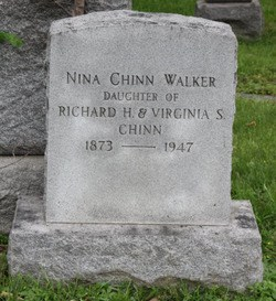 NINA WALKER'S HEADSTONE, Rock Creek Cemetery